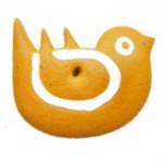 Ptaszek - logotyp z piernika